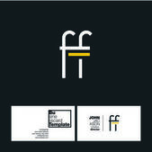 FF Letters Logo Business Card