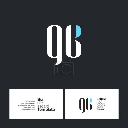 QC Letters Logo Business Card