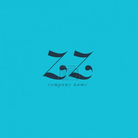ZZ Italics Joint Letters Logo