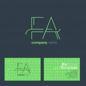 FA Letters Logo Business Card