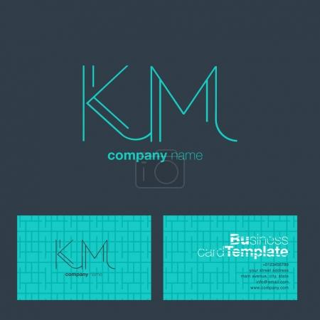 KM Letters Logo Business Card