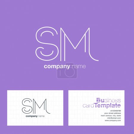 SM Letters Logo Business Card