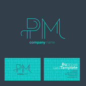 PM Letters Logo Business Card