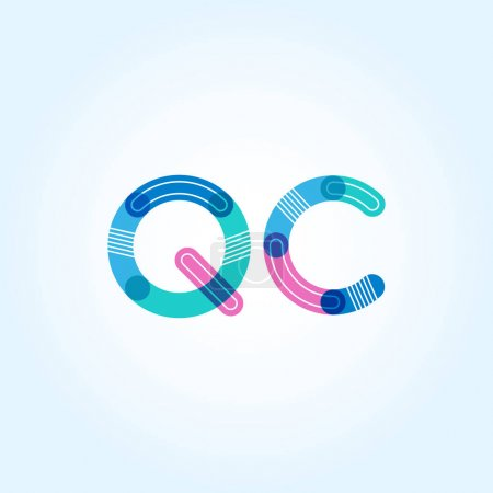 QC connected letters logo