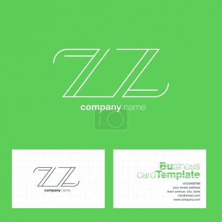 ZZ Letters Logo Business Card