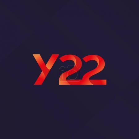 letter and digit Y22 logo