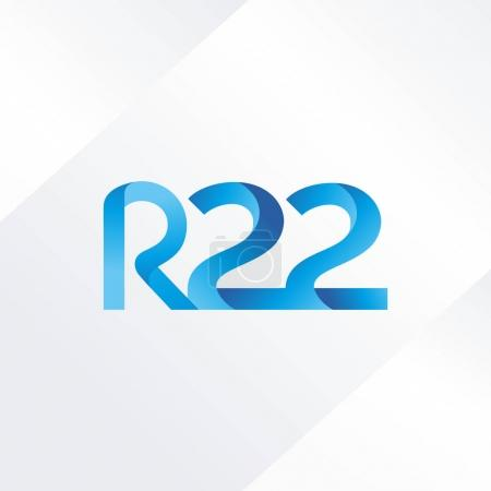 letter and digit R22 logo