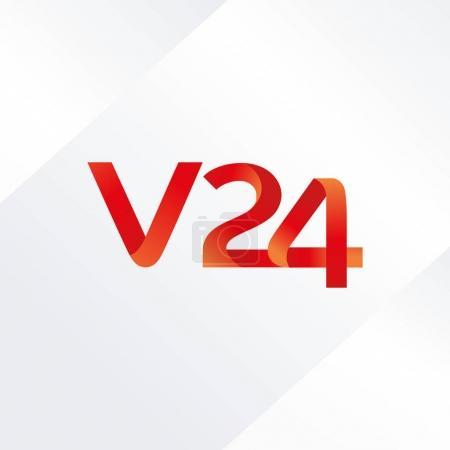 letter and digit V24 logo