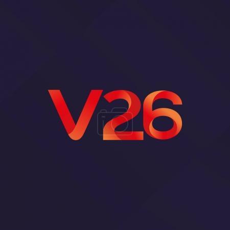 letter and digit V26 logo