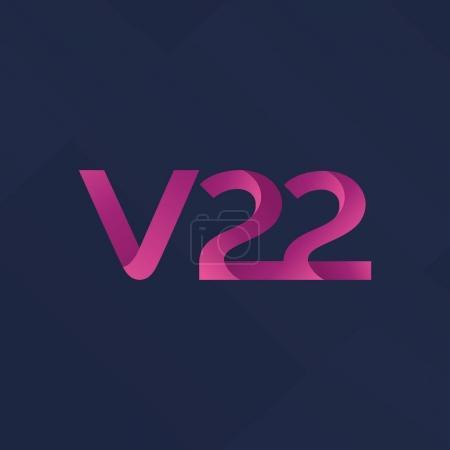 letter and digit V22 logo
