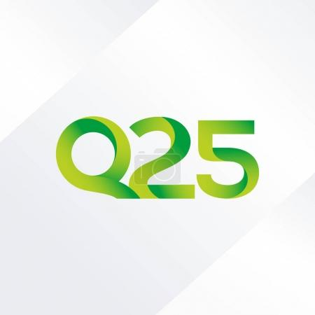 letter and digit Q25 logo