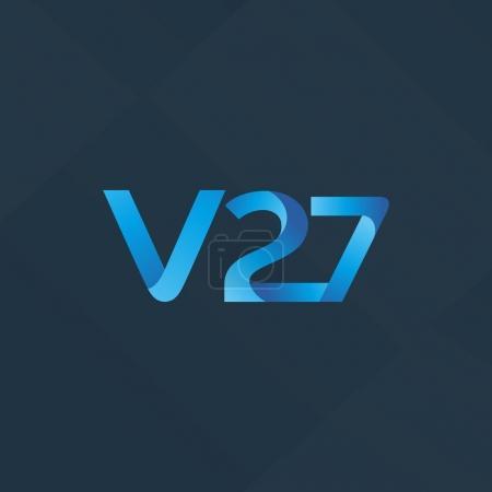letter and digit V27 logo