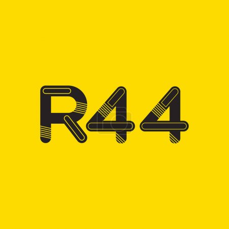 Letter and digit contemporary company logo R44,  w...