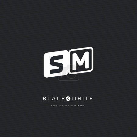 SM letters logo