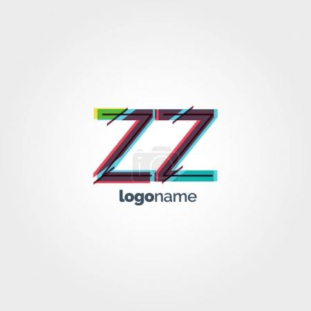 ZZ connected letters logo