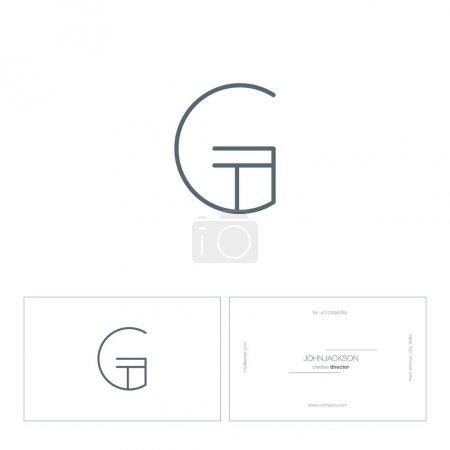 Single line letter logo G