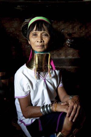 Paduang woman at kitchen