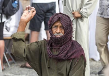 Old omani man in Nizwa goat market