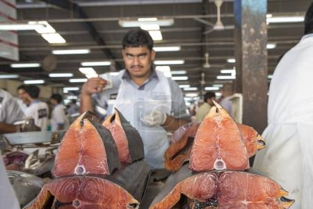 men selling fish at Deira