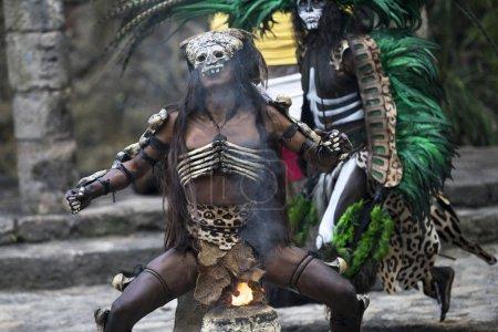 Men in Maya indian costume