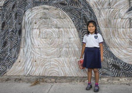 girl in Maya indian costume