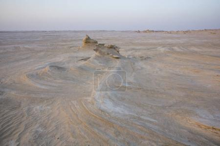 sand formations in desert near Abu Dhabi