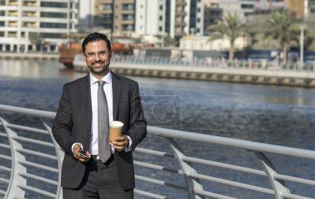 businessman in Dubai Marina