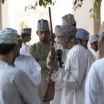 Nizwa, Oman, November 10th, 2017: omani men talkin...