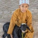 Nizwa, Oman, 10th November 2017: omani kid with go...