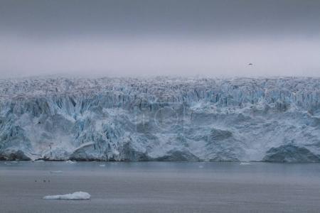 Photo pour Glacier Massive Monaco dans l'archipel du Svalbard en Norvège - image libre de droit