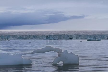 Photo pour Île recouverte de glace de Nordaustlandet dans l'archipel du Svalbard - image libre de droit