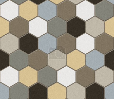 Hexagonal tiles. Patchwork. Seamless texture.
