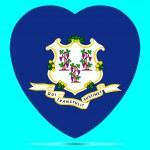 Connecticut Flag In Heart Shape Vector illustratio...
