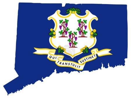 Connecticut Map Flag Vector illustration Eps 10....