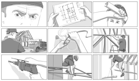 Construction site storyboards