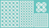 Set of decorative panels laser cutting a wooden panel Modern and elegant linear repeating pattern in square shapes The ratio 2:3 1:2 1:1 seamless Vector illustration