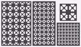 Set of decorative panels laser cutting a wooden panel Modern classic repeating heart pattern in square shapes The ratio 2:3 1:2 1:1 seamless Vector illustration