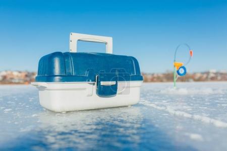 Fishing gear for winter fishing.
