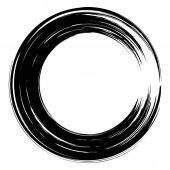 grunge paintbrush circle 04
