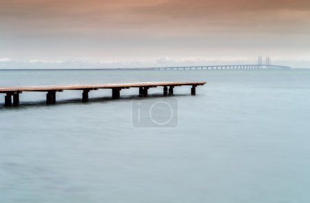 bridge to the continent between Malmo Sweden