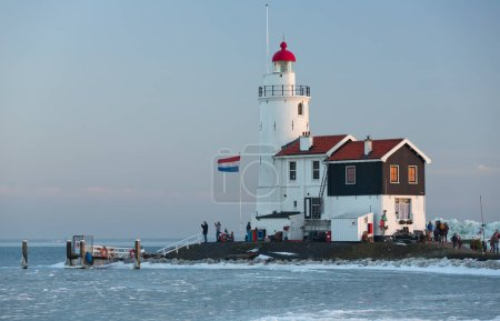 wintertime at Holland and  lighthouse.