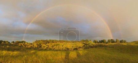 Rainbow during sunshine