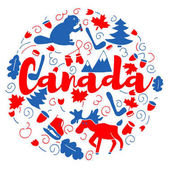 Canada Landmark Travel and Journey Infographic Vector Design Canada country design template