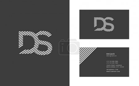 Ds joint letters logo design, template for busines...