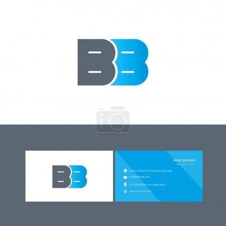 Illustration pour Logo de type gras connecté avec lettres BB, identité d'entreprise, illustration vectorielle - image libre de droit