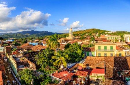 Photo pour La vue sur Trinidad, Cuba. La ville est un site du patrimoine mondial de l'Unesco - image libre de droit