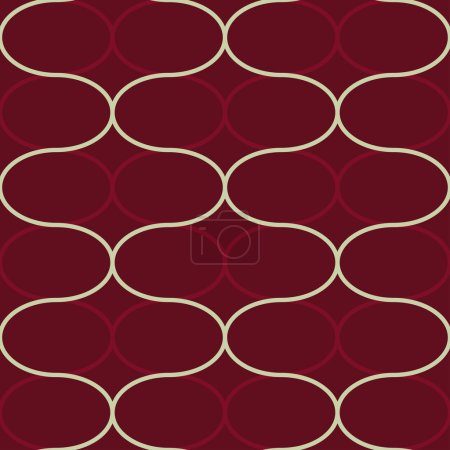 """Abstract geometric seamless pattern. Trendy textile or interior wallpaper repeatable texture. Tony natural light beige and burgundy """"marsala"""" color shades. Waves shapes background."""