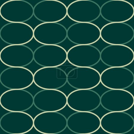 """Abstract geometric seamless pattern. Trendy textile or interior wallpaper repeatable texture. Tony natural light beige and green """"emerald"""" color shades. Waves shapes background."""