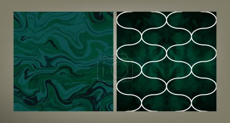 Set of two trendy pattern tiles