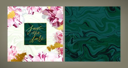 Trendy wedding invitation template